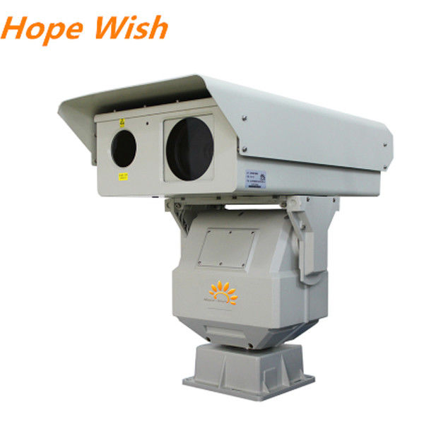 2km Border Surveillance PTZ Infrared Camera , 808nm Long Range CMOS Laser Camera